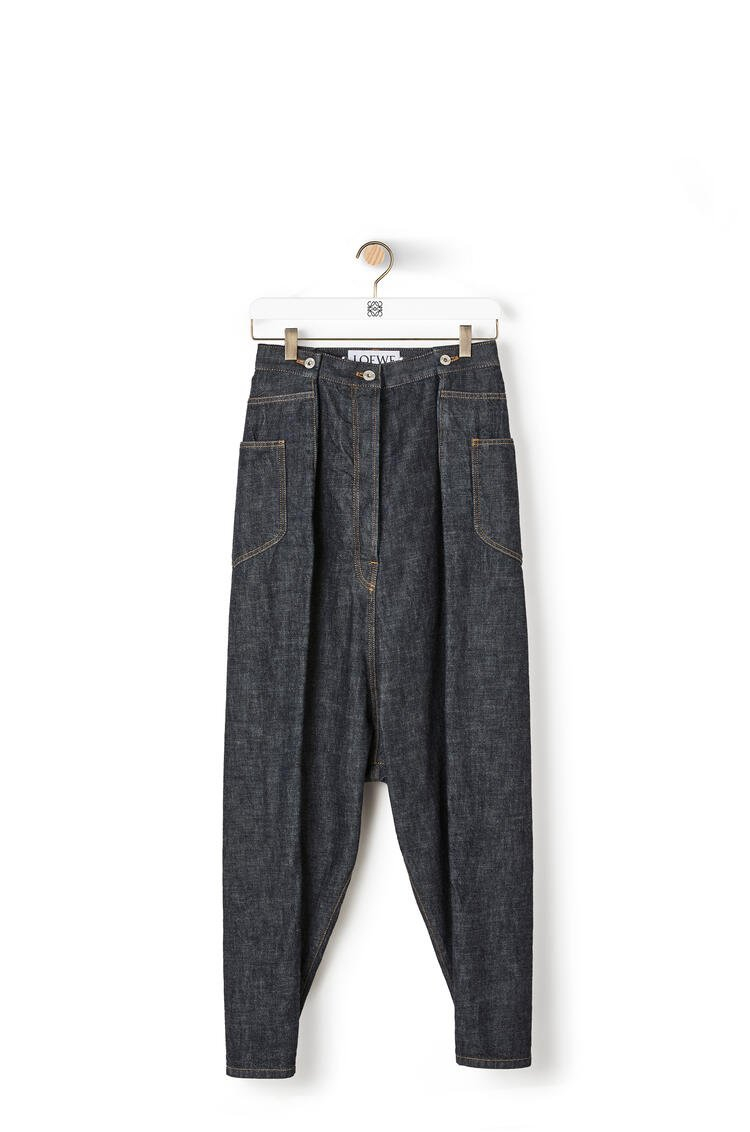 LOEWE Oversize jeans in cotton Blue Denim pdp_rd