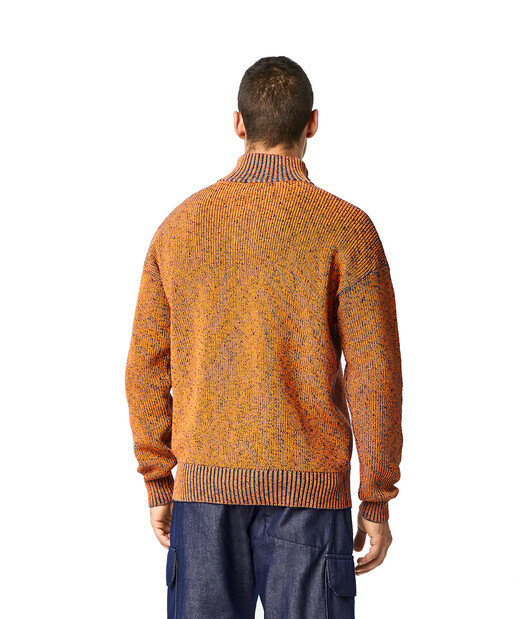 LOEWE Eln Melange High Neck Jumper Orange front