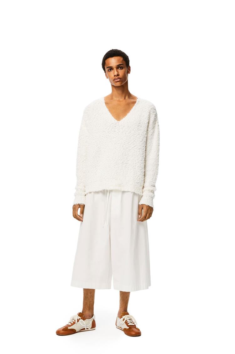 LOEWE Yzzuf v neck sweater in wool White pdp_rd