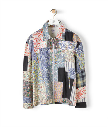 LOEWE Zip Patchwork Jacket Multicolor front