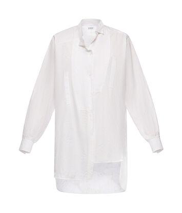 LOEWE Asymmetric Shirt Logomania Blanco front