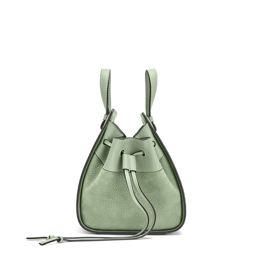 LOEWE Hammock Drawstring Mini Bag Pale Green front