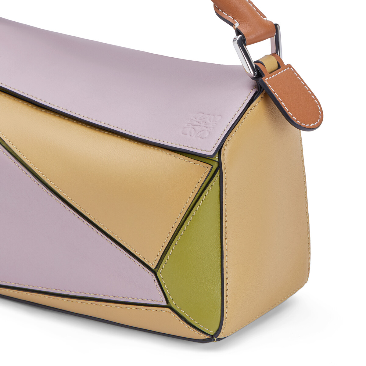 LOEWE Puzzle Small Bag Lilac/Gold front