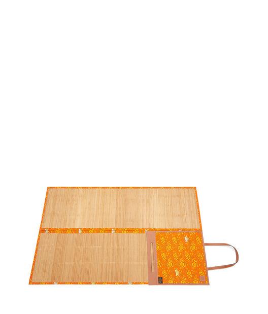 LOEWE Paula Beach Mat Orange/Tan front