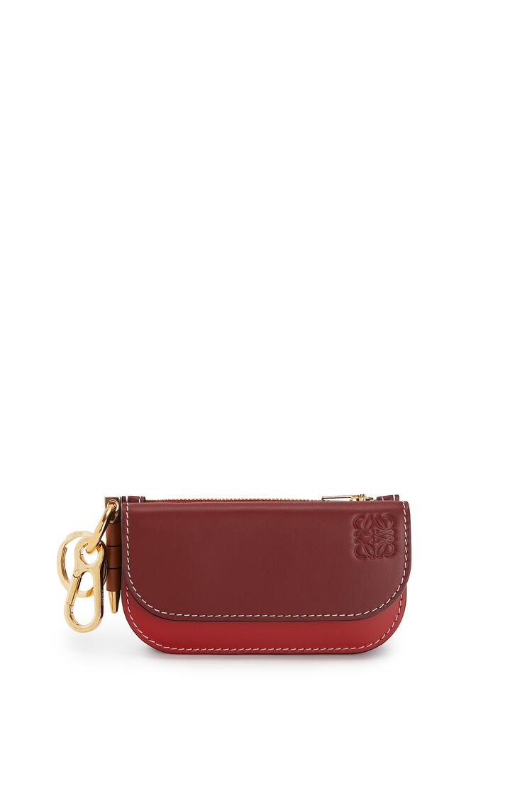 LOEWE Mini Gate wallet in smooth calfskin Garnet/Pomodoro pdp_rd