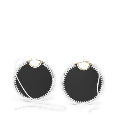 LOEWE Macrame Earrings Black/Gold front