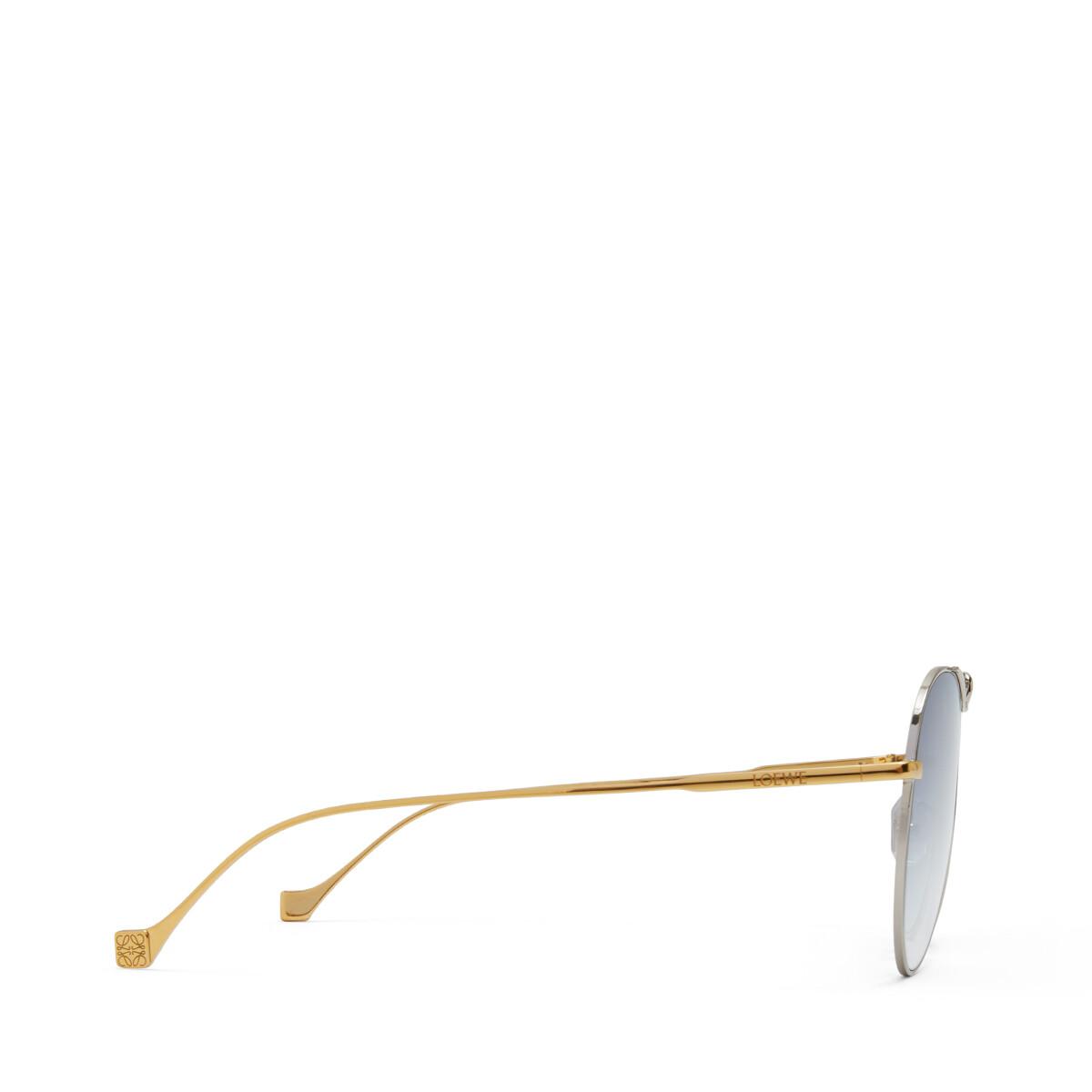 LOEWE Metal Knot Pilot Sunglasses 金色/蓝色 front