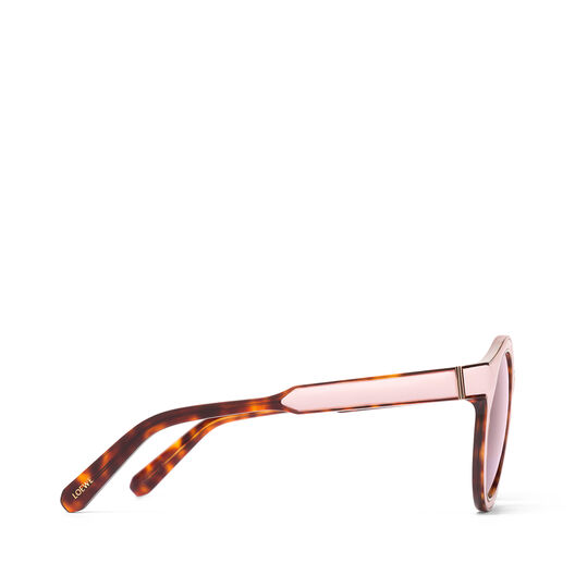 LOEWE Round Padded Sunglasses Pink/Pink all