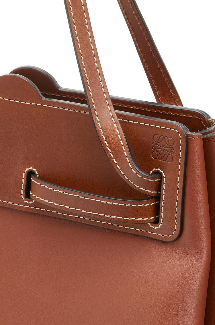 LOEWE Lazo Shopper Bag In Natural Calfskin Rust Color pdp_rd