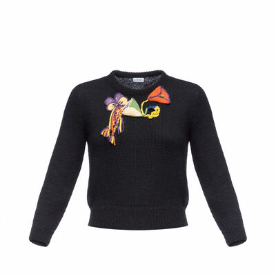 LOEWE Sweater Bouquet Black/Multicolor front