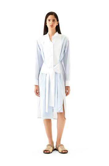 LOEWE Stripe Shirtdress Azul/Blanco front
