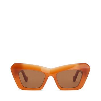 LOEWE Acetate Cateye Sunglasses 杏色 front