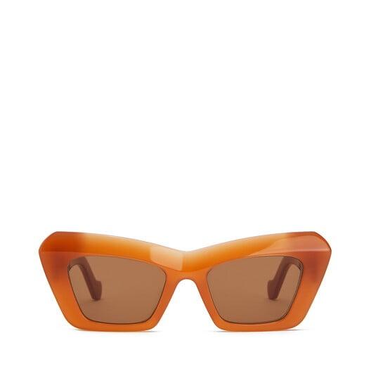 LOEWE Acetate Cateye Sunglasses Apricot front