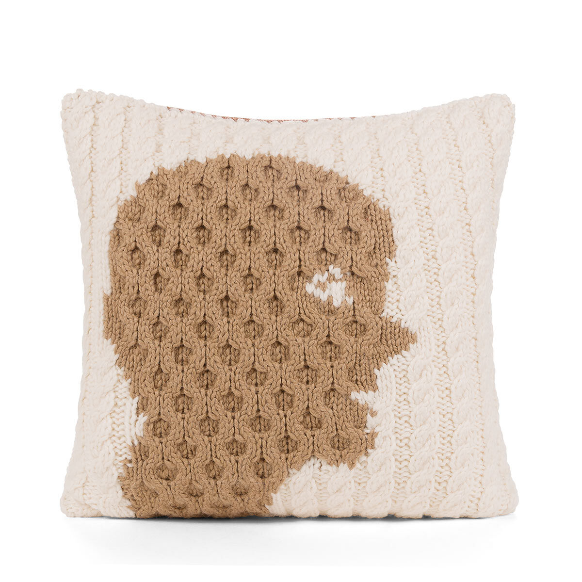 LOEWE Hand Knitted Cushion 5 40X40 White/Camel all