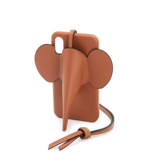 LOEWE Elephant Cover For Iphone X/Xs Tan front