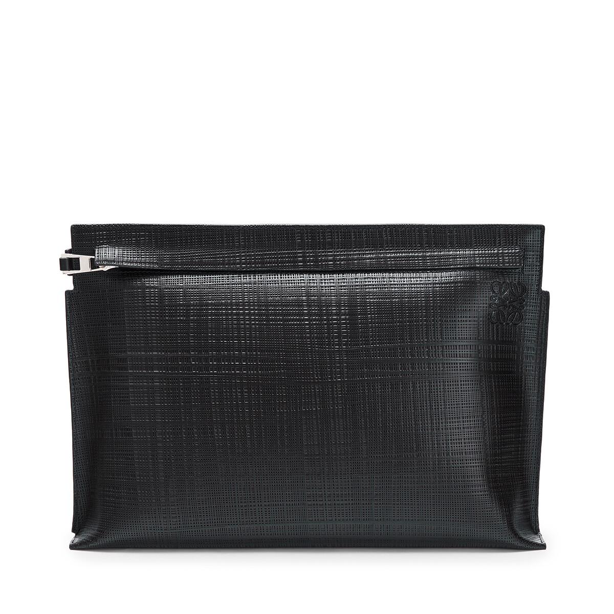 LOEWE Linen T Pouch Black front