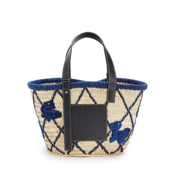 LOEWE Basket Animals Blue front
