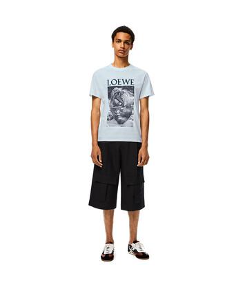 LOEWE Ken Heyman T- Shirt ベイビーブルー front