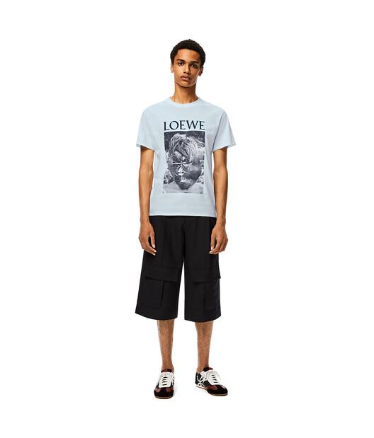 LOEWE Ken Heyman T- Shirt Baby Blue front