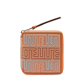 LOEWE Maze Square Zip Wallet Tan/Orange front