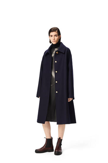 LOEWE Gold button coat Navy Blue pdp_rd