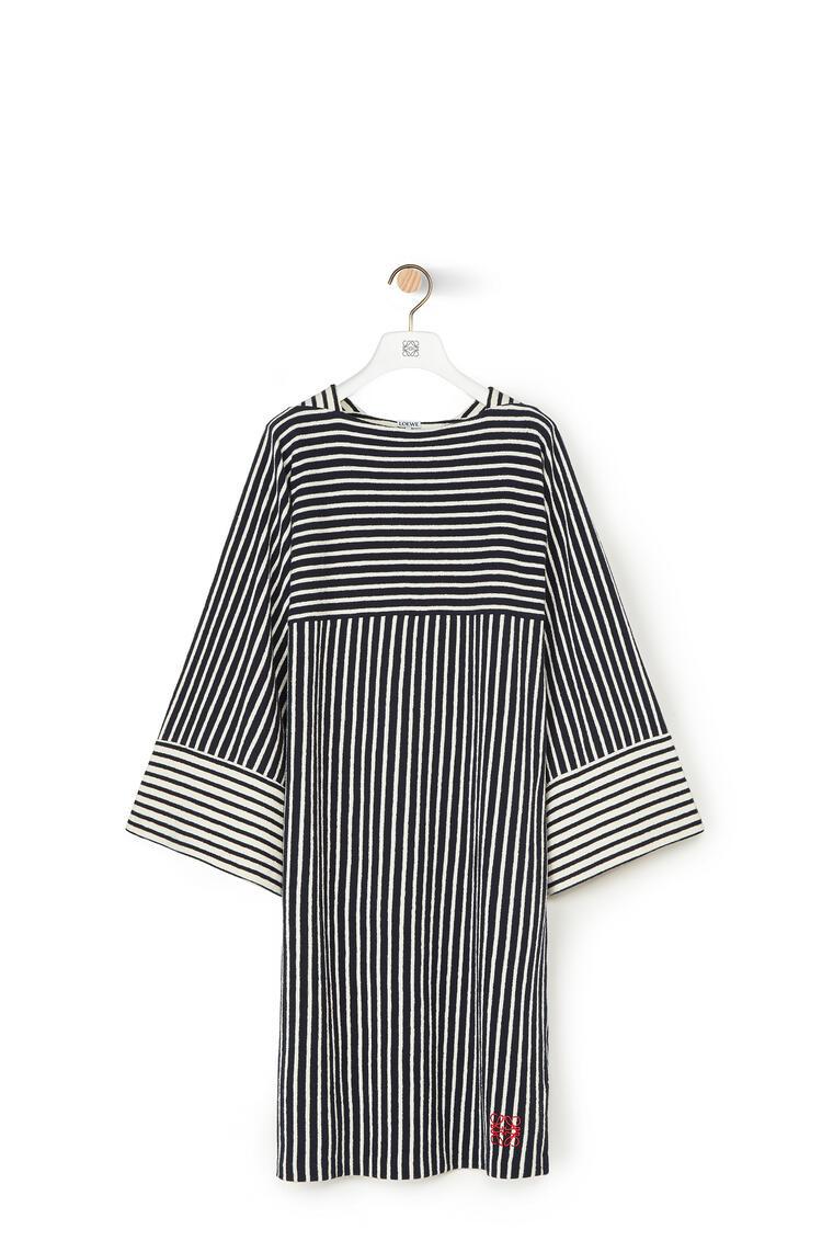 LOEWE Jersey dress in cotton Navy Blue/Ecru pdp_rd