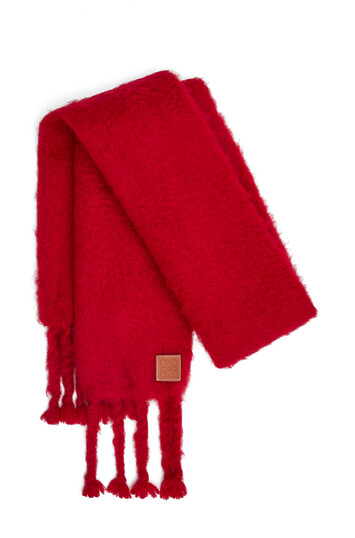 LOEWE 45X230 Mohair Scarf Raspberry front