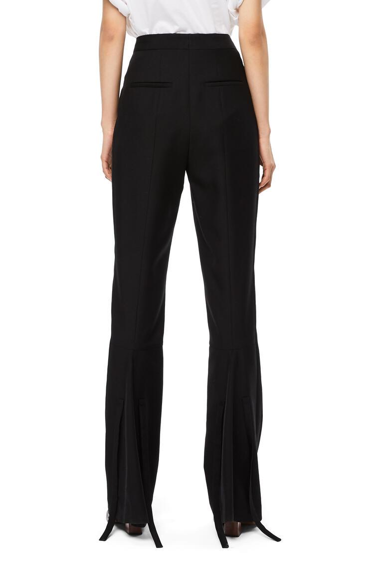 LOEWE Tie Hem Trousers In Virgin Wool Black pdp_rd