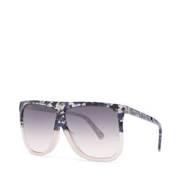 LOEWE Filipa Sunglasses Blue Havana/Light Grey/Gradien front