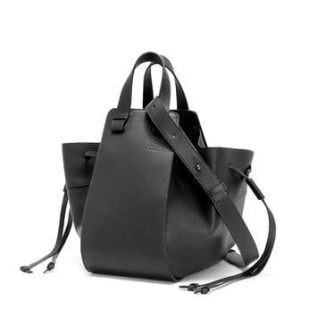 LOEWE Hammock Drawstring Medium Bag Black front