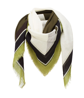 LOEWE 140X140 Scarf Puzzle Border 绿色 front