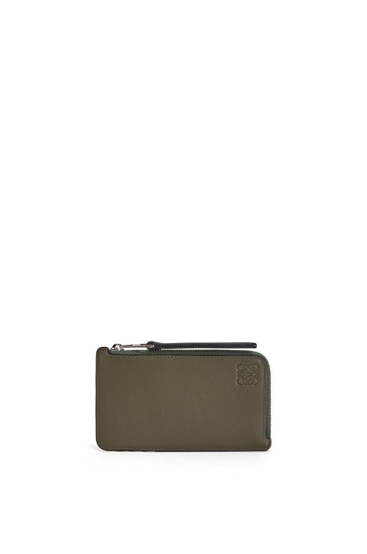 LOEWE 经典小牛皮双色硬币卡包 Khaki Green/Cognac pdp_rd