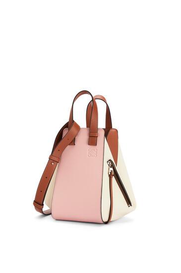 LOEWE Small Hammock Bag In Classic Calfskin Peach Pink/Milk pdp_rd