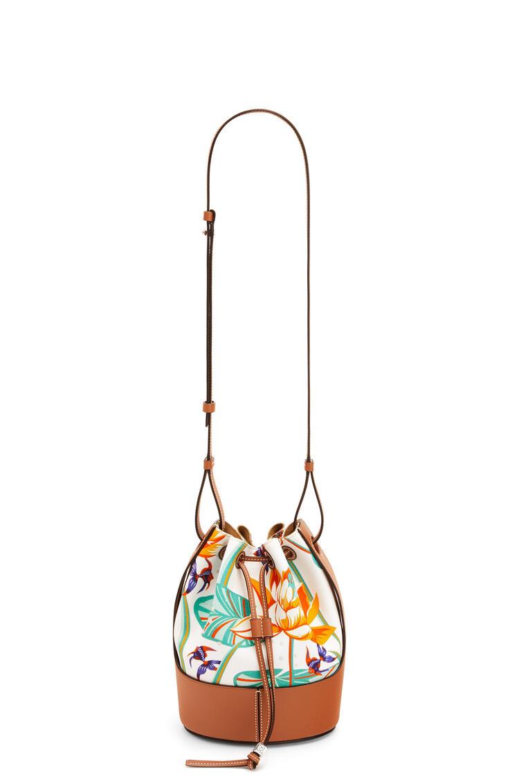 LOEWE バルーンバッグ スモール (ウォーターリリー キャンバス&カーフスキン) ホワイト/タン pdp_rd