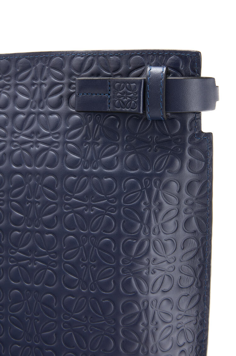 LOEWE T Pouch repeat in calfskin Navy Blue pdp_rd