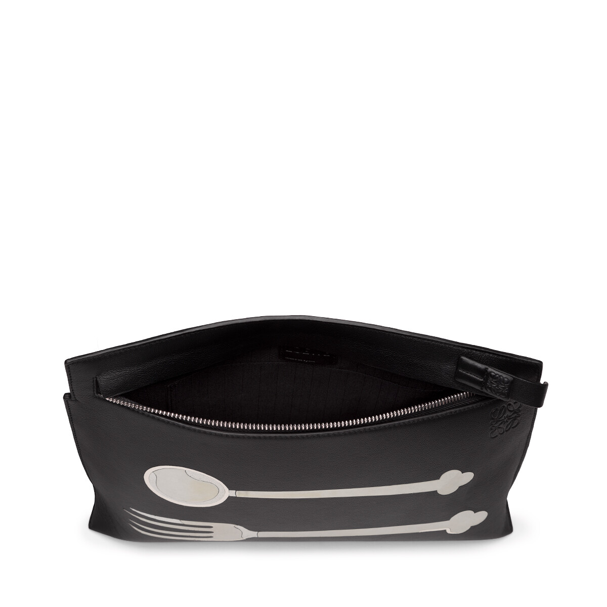 LOEWE T Pouch Spoon Bag Black front