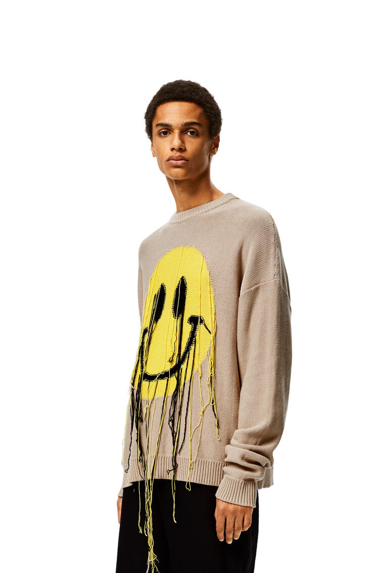 LOEWE Smiley Sweater in cotton Beige/Yellow pdp_rd