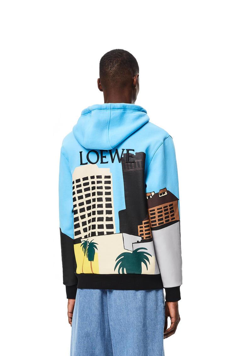 LOEWE L.A. Series hoodie in cotton Sky Blue/Multicolor pdp_rd
