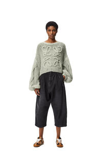 LOEWE Anagram knitted sweater in mohair Pale Green pdp_rd