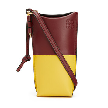 LOEWE Gate Pocket Wine/Yellow front