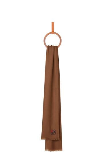 LOEWE 70 x 200 cm ロエベ アナグラム スカーフ(カシミヤ) キャメル pdp_rd