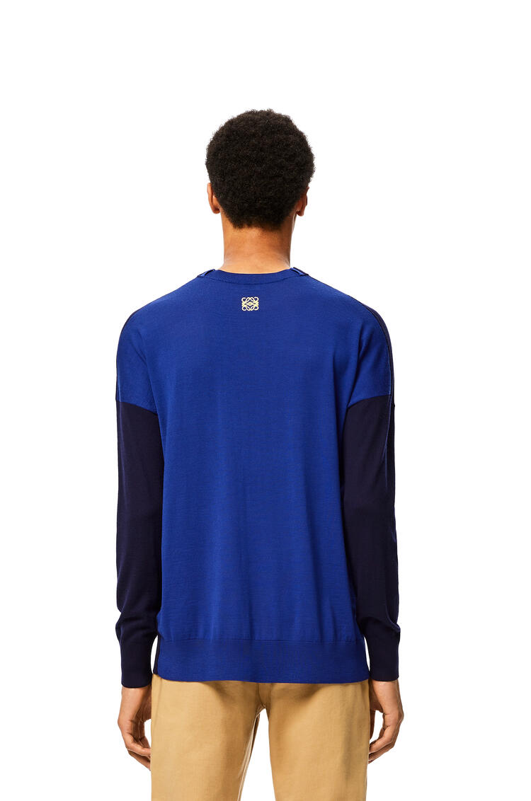 LOEWE Anagram Embroidered Sweater In Cashmere Navy Blue/Blue pdp_rd
