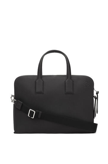 LOEWE Goya Thin Briefcase In Soft Grained Calfskin Black pdp_rd