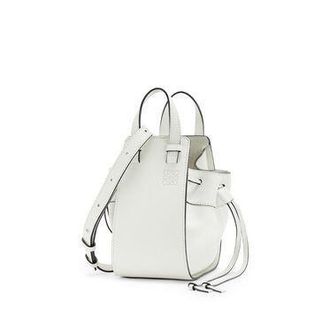 LOEWE Mini Hammock Dw Bag Soft White front