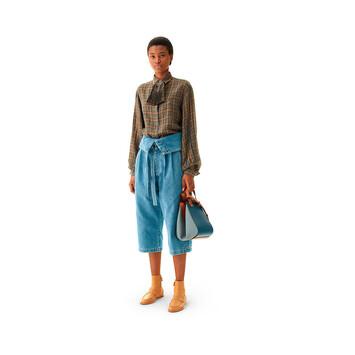 LOEWE Bolso Hammock Pequeño Azul Acero/Bronceado front