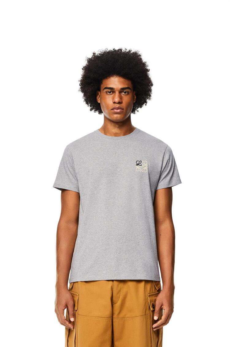 LOEWE Anagram T-shirt in cotton Grey Melange pdp_rd
