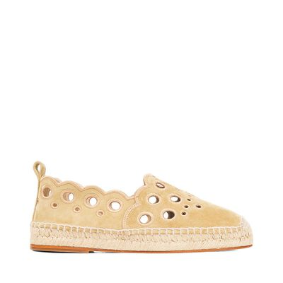 LOEWE Espadrille Broderie Oro Gold front