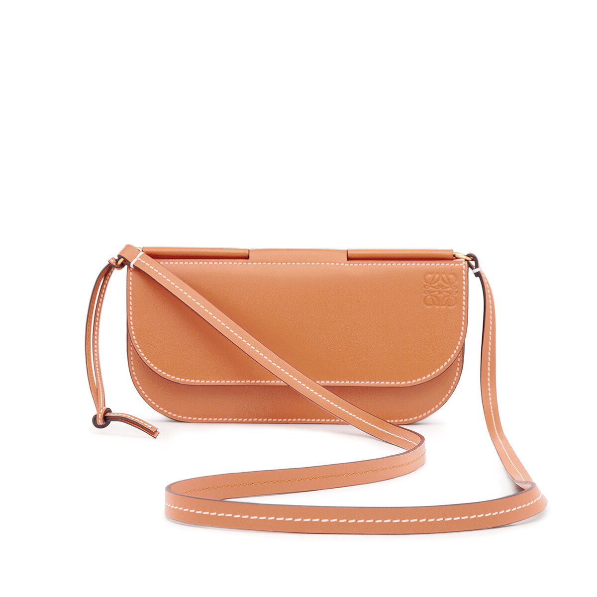 LOEWE Gate Pochette Light Caramel/Oxblood front