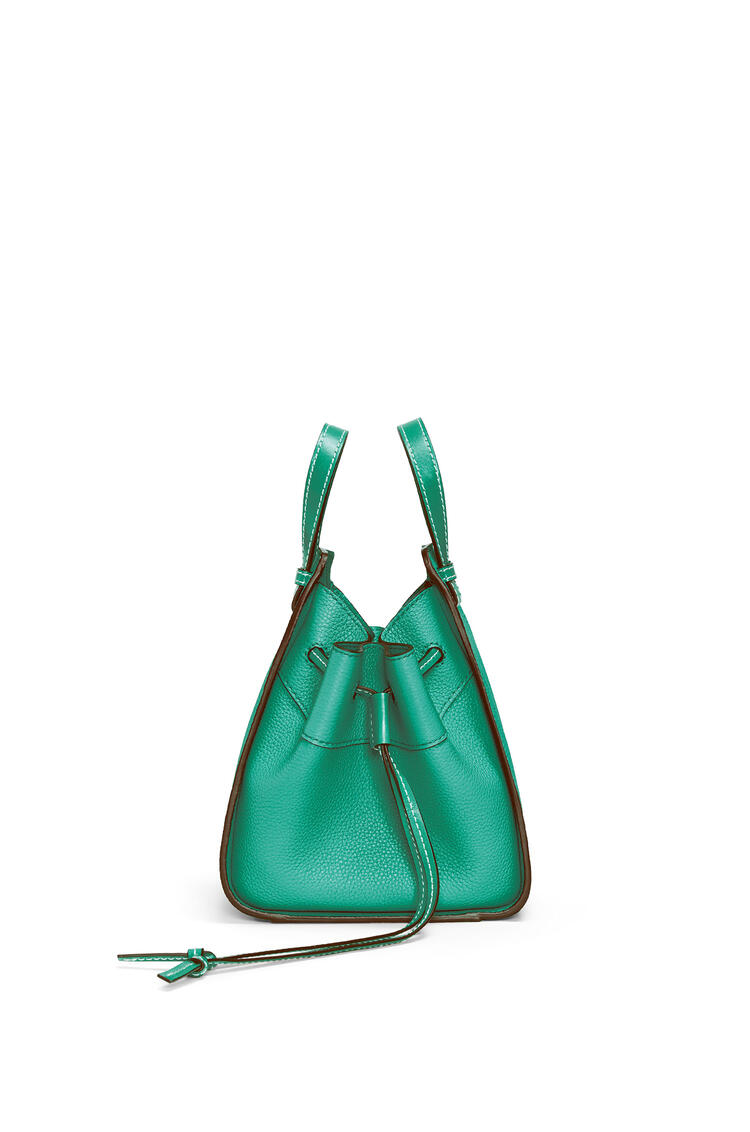LOEWE Mini Hammock Drawstring bag in soft grained calfskin Emerald Green pdp_rd