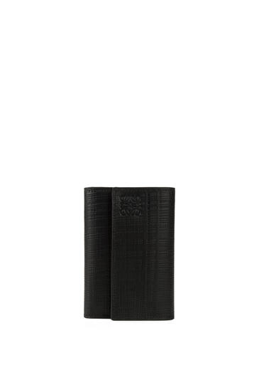 LOEWE バーティカル ウォレット スモール(テクスチャード カーフスキン) ブラック pdp_rd